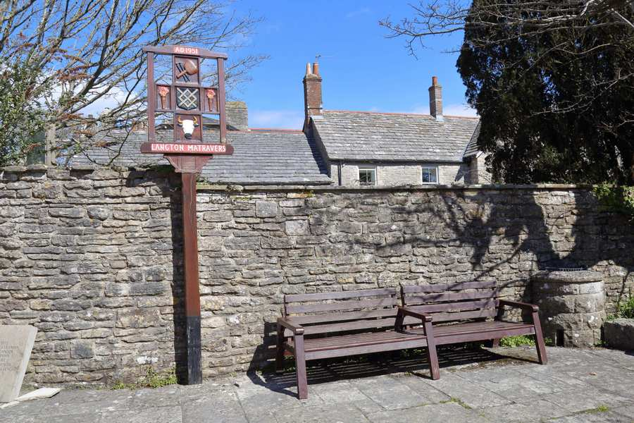 Bench Near to The Old Rectory Care Home, Residential Care Facility in Swanage
