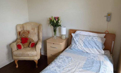 Bed, Bedside Cabinet and Chair, Elderly Care Homes in Swanage
