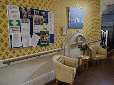 Notice Board and Hallway, Residential Care in Swanage