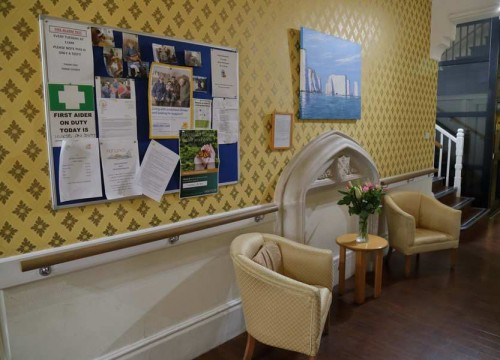 Notice Board, Residential Care Facility in Swanage